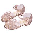 ราคาถูก รองเท้าแตะเด็ก-เด็กผู้หญิง รองเท้าสาวดอกไม้ PU รองเท้าแตะ เด็กวัยหัดเดิน (9m-4ys) / เด็กน้อย (4-7ys) / Big Kids (7 ปี +) สีทอง / สีเงิน / สีชมพู ฤดูร้อน / ที่สวมนิ้วเท้า / ยาง