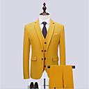 billiga Hundkläder-Svart / Vit / Himmelsblå Enfärgad Smal passform Bomull Kostym - Trubbig Singelknäppt Två knappar / kostymer