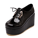 ราคาถูก รองเท้าบูตผู้หญิง-สำหรับผู้หญิง PU ฤดูใบไม้ผลิ & ฤดูใบไม้ร่วง อังกฤษ / Preppy รองเท้า Oxfords รองเท้าส้นตึก ปลายกลม ขาว / สีดำ / พรรคและเย็น