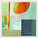 billige Blomster-/botaniske malerier-Hang malte oljemaleri Håndmalte - Abstrakt Moderne Inkluder indre ramme
