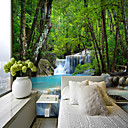 cheap Wall Murals-Landscape  Waterfall Suitable for TV Background Wall Wallpaper Murals Living Room Cafe Restaurant Bedroom Office XXXL(448*280cm)