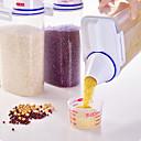 billige Stativer og holdere-1pc Bulk Food Storage Plastikker Gjennomsiktig Kropp Multifunktion