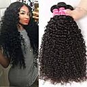 ราคาถูก หลอดไฟ-3 Bundles / กลุ่ม ผมบราซิล Kinky Curly 100% Remy Hair Weave Bundles มนุษย์ผมสาน มัดผม ผมต่อแท้ 8-28 inch สีธรรมชาติ สานเส้นผมมนุษย์ Odor Free มาใหม่ หนา ส่วนขยายของผมมนุษย์
