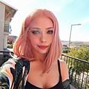 billige Vegglamper-Syntetisk blonder foran parykker Rett Jenner Midtdel Blonde Forside Parykk Kort Gullrosa Syntetisk hår 14 tommers Dame Myk Dame Beste kvalitet Rose Rosa