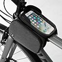 זול תיקים למסגרת האופניים-טלפון נייד תיק תיקים למסגרת האופניים 6.2 אִינְטשׁ מסך מגע נייד רכיבת אופניים ל Samsung Galaxy S6 Samsung Galaxy S6 edge LG G3 שחור אופני כביש אופני הרים חוץ / iPhone XS Max / iPhone XS / iPhone XR