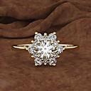 ราคาถูก แหวน-สำหรับผู้หญิง แหวน Cubic Zirconia 1pc ขาว สีเหลือง Rose Gold โลหะผสม วงกลม อินเทรนด์ สง่างาม งานแต่งงาน เครื่องประดับ คลาสสิค Snowflake น่ารัก
