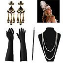 ราคาถูก จี้และเครื่องประดับรถยนต์-Great Gatsby สร้อยคอ ต่างหู เรทโทร / วินเทจ 1920s Gatsby ขนนกเทียม ชุดเครื่องประดับเครื่องแต่งกาย Outfits Masquerade สำหรับ ปาร์ตี้ / ค็อกเทล เทศกาล วันฮาโลวีน เทศกาลคานาวาล สำหรับผู้หญิง / ถุงมือ