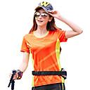 ราคาถูก เสื้อยืดปีนเขา-สำหรับผู้หญิง Hiking T-shirt แขนสั้น กลางแจ้ง ระบายอากาศ แห้งเร็ว Ultraviolet Resistant ซึ่งยืดหยุ่น เสื้อยึด ฤดูใบไม้ร่วง ฤดูใบไม้ผลิ ชุดชั้นในแบบChinlon สีบานเย็น สีเขียว ฟ้า