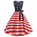 זול סניקרס לנשים-עד הברך דפוס שמלה גזרת A וינטאג' בגדי ריקוד נשים