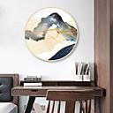 זול אומנות ממוסגרת-קאנבס ממוסגר הדפסים - מופשט L ו-scape עץ סקיצה וול ארט