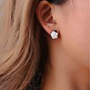ราคาถูก ตุ้มหู-สำหรับผู้หญิง ต่างหู Small ต่างหู เครื่องประดับ สีเงิน สำหรับ การหมั้น ฮอลิเดย์ 1 คู่