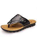 ราคาถูก รองเท้ากีฬาสำหรับผู้ชาย-สำหรับผู้ชาย รองเท้าสบาย ๆ หนัง ตก / ฤดูร้อนฤดูใบไม้ผลิ คลาสสิก / ไม่เป็นทางการ รองเท้าแตะและรองเท้าแตะ ระบายอากาศ สีดำ / สีน้ำตาล / กาแฟ