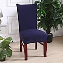 baratos Cobertura de Cadeira-capa para cadeira slipcovers sólida cor marinha escura / poliéster impresso / altamente elástica / fácil de instalar