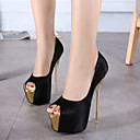 ราคาถูก รองเท้าแตะผู้หญิง-สำหรับผู้หญิง Synthetics ตก / ฤดูร้อนฤดูใบไม้ผลิ หวาน / อังกฤษ รองเท้าส้นสูง ส้น Stiletto ที่สวมนิ้วเท้า ขาว / สีดำ / สีชมพูอ่อน / งานแต่งงาน / พรรคและเย็น / ลายบล็อคสี