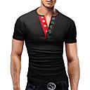 זול שורטים, מכנסיים, טייצים לרכיבת אופניים-אחיד צווארון V בסיסי טישרט - בגדי ריקוד גברים אפור כהה