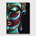 billige Innrammet kunst-Hang malte oljemaleri Håndmalte - Mennesker Religiøst Vintage Moderne Uten Indre Ramme