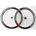 ราคาถูก ล้อจักรยาน-FARSPORTS 700CC ชุดล้อ จักรยาน 25 mm ถนน คาร์บอนไฟเบอร์ ยางงัด / ที่รองรับการทำงานของยาง 20/24 Spokes 50 mm