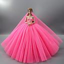 povoljno Dodaci za lutku-Haljina za lutke Party / Večer Vjenčanje Za Barbie Jedna barva purpurna boja Plava Pink Saten / til Poliester 1 X Doll Odjeća Za Djevojka je Doll igračkama