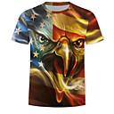povoljno Cosplay za svaki dan-Majica s rukavima Muškarci 3D / Grafika / Životinja Print Zlato