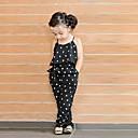 billiga Flickklänningar-Småbarn Flickor söt stil Dagligen Hjärta Tryck Ärmlös Overall och jumpsuit Svart