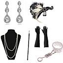 Χαμηλού Κόστους Κοστούμια, Αξεσουάρ & Κοσμήματα-The Great Gatsby Κρεμαστό Σκουλαρίκι Βραχιόλι Ρετρό / Βίντατζ 1920s Gatsby Τεχνητό φτερό Αξεσουάρ Κοστού Αξεσουάρ Γάντια Κολιέ Για Πάρτι / Κοκτέιλ Φεστιβάλ Halloween Απόκριες Γυναικεία / Σκουλαρίκια