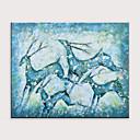 ราคาถูก ปรินต์-ภาพวาดสีน้ำมันแขวนทาสี มือวาด - แอ็ปสแต็ก สัตว์ต่างๆ ที่ทันสมัย โดยไม่ต้องภายในกรอบ