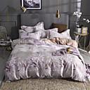 billige Moderne dynetrekk-Sengesett Ensfarget Polyester / Bomull Trykket 4 delerBedding Sets