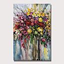 billige Abstrakte malerier-Hang malte oljemaleri Håndmalte - Abstrakt Blomstret / Botanisk Vintage Moderne Uten Indre Ramme
