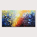 ราคาถูก ภาพวาดวิวทิวทัศน์-ภาพวาดสีน้ำมันแขวนทาสี มือวาด - ลวดลายดอกไม้ / เกี่ยวกับพฤษศาสตร์ แลนสเคป ที่ทันสมัย รวมถึงด้านในกรอบ