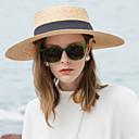 ราคาถูก เครื่องเป่าเล็บ & โคมไฟ-เส้นใยธรรมชาติ หมวกฟาง กับ 1pc ที่มา / สวมใส่ทุกวัน หูฟัง