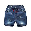 baratos Mocassins Infantis-Infantil Para Meninos Básico Moda de Rua Sólido Estampado Estampado Algodão Jeans Azul