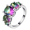 זול שרשראות-בגדי ריקוד נשים טבעת הטבעת טבעת זירקונה מעוקבת 1pc קשת נחושת Geometric Shape מסוגנן פאר ארופאי Party מתנה תכשיטים קלאסי מגניב
