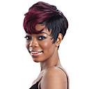 Χαμηλού Κόστους Συνθετικές περούκες χωρίς σκουφί-Συνθετικές Περούκες Afro Πλευρικό μέρος Περούκα Χρυσό Κοντό Μαύρο και Χρυσό Καφέ / Βουργουνδίας Μαύρο  / Πράσινο Μαύρο / Μπλε Συνθετικά μαλλιά 12 inch Γυναικεία Μοδάτο Σχέδιο Γυναικεία συνθετικός
