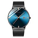 ราคาถูก จี้และเครื่องประดับรถยนต์-HANNAH MARTIN สำหรับผู้ชาย นาฬิกาข้อมือสแตนเลส ญี่ปุ่น นาฬิกาควอตซ์ญี่ปุ่น สแตนเลส ดำ / เงิน 30 m นาฬิกาใส่ลำลอง ระบบอนาล็อก แฟชั่น สีสัน - ดำ / น้ำเงิน Black / Silver Black / Rose Gold / หนึ่งปี