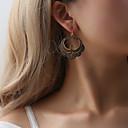 ราคาถูก ตุ้มหู-สำหรับผู้หญิง ต่างหู ต่างหู เครื่องประดับ สีทอง / สีดำ / สีเงิน สำหรับ ของขวัญ ฮอลิเดย์ เทศกาล 1 คู่