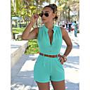 Χαμηλού Κόστους Ρούχα τρεξίματος-Γυναικεία Βασικό / Κομψό στυλ street Σορτσάκια Παντελόνι - Μονόχρωμο Ψηλή Μέση Κίτρινο Πράσινο Ανοικτό Φούξια L XL XXL