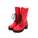 billiga Hundleksaker-Dam Skor Boots Punk Kilklack Skor Enfärgad 5 cm Blå Röd PU läder Halloween kostymer