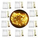 povoljno LED svjetla u traci-10pcs 3m 30 leds vodio fairy string svjetla 3aa baterije srebro žice više boja / bijelo / toplo bijelo party / odmor / vjenčanje / home dekor bez baterije