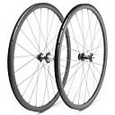 ราคาถูก ล้อจักรยาน-FARSPORTS 700CC ชุดล้อ จักรยาน 25 mm ถนน คาร์บอนไฟเบอร์ ยางงัด / ที่รองรับการทำงานของยาง 24/24 Spokes 38 mm