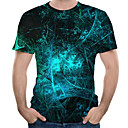billiga Löparkläder-Tryck, 3D Plusstorlekar T-shirt Herr Rund hals Marinblå / Kortärmad