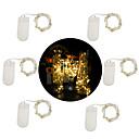 povoljno LED svjetla u traci-6pcs 1m 10 leds vodio vila string svjetla cr2032 moć srebro žica više boja / bijela / toplo bijela stranka / odmor / vjenčanje \ t