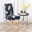זול כיסויים-הכיסא מוצק צבעוני מודפס פוליאסטר slipcovers