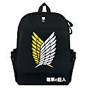 ราคาถูก School Bags-ผ้าใบ ซิป กระเป๋าโรงเรียน อะนิเมะ โรงเรียน สีดำ / สีกากี / สำหรับผู้ชาย