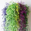 Χαμηλού Κόστους Τεχνητά φυτά-12pcs λουλούδι αμπέλου 72pcs φύλλο 1 κομμάτι 2m διακόσμηση σπίτι τεχνητή φύση κισσού γιρλάντα φυτό αμπέλου ψεύτικο φύλλο λουλούδι ερπετό πράσινο κισσός στεφάνι