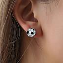 ราคาถูก ตุ้มหู-สำหรับผู้หญิง ต่างหู ต่างหู เครื่องประดับ สีเงิน สำหรับ Stage เทศกาลคานาวาล Street 1 คู่