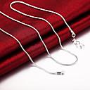 povoljno Modne ogrlice-Muškarci Žene Lančići Klasičan Klasik Osnovni Moda mesing Glina Pink 51,61,66,76 cm Ogrlice Jewelry 1pc Za Dnevno Rad