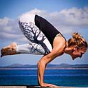 povoljno Odjeća za fitness, trčanje i jogu-Žene Sexy Sportski Legging - Biljke, Print Medium Waist Obala Crn M L XL / Slim
