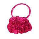 ราคาถูก กระเป๋าถือออกงานและกระเป๋าคลัทช์-สำหรับผู้หญิง ดอกไม้ ผ้าไหม กระเป๋าราตรี สีทึบ สีดำ / สีบานเย็น / ฤดูใบไม้ร่วง & ฤดูหนาว