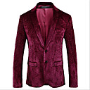 billiga Husdjursartiklar-Vinröd Mönstrad Smal passform Polyester / polyster Kostym - Trubbig Singelknäppt Två knappar