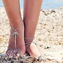 ราคาถูก เครื่องประดับร่างกาย-สำหรับผู้หญิง Turquoise รองเท้าเท้าเปล่า สร้อยข้อมือข้อเท้า หลายเลเยอร์ คลาสสิก วินเทจ เกี่ยวกับยุโรป ชาติพันธุ์ Hotwife สร้อยข้อเท้า เครื่องประดับ สีเงิน สำหรับ ทุกวัน เทศกาลคานาวาล Street ฮอลิเดย์